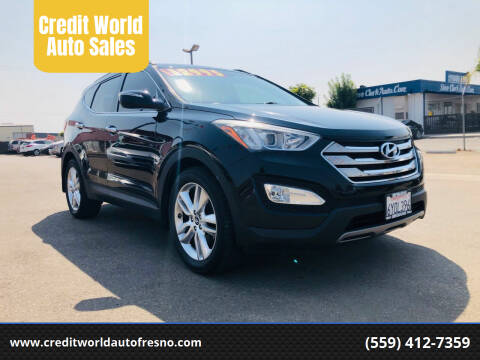 2013 Hyundai Santa Fe Sport for sale at Credit World Auto Sales in Fresno CA