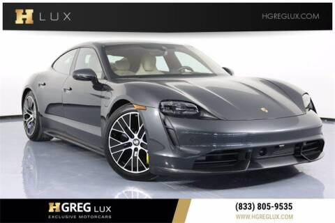 2020 Porsche Taycan for sale at HGREG LUX EXCLUSIVE MOTORCARS in Pompano Beach FL