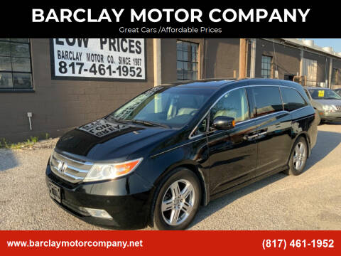 2011 Honda Odyssey for sale at BARCLAY MOTOR COMPANY in Arlington TX