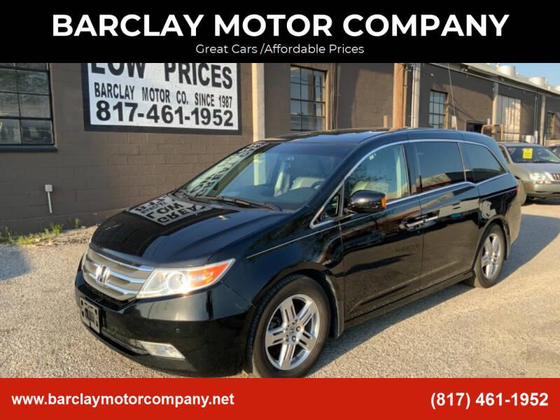 2011 Honda Odyssey for sale at BARCLAY MOTOR COMPANY in Arlington TX