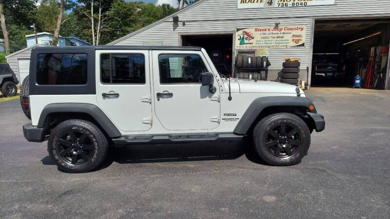 2013 Jeep Wrangler Unlimited for sale at Route 4 Motors INC in Epsom NH