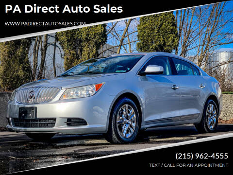 2011 Buick LaCrosse for sale at PA Direct Auto Sales in Levittown PA