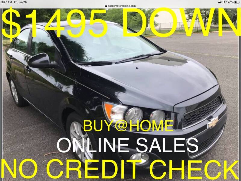 2013 Chevrolet Sonic for sale at Cooks Motors in Westampton NJ