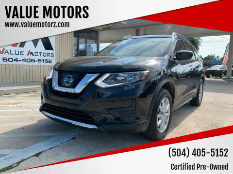 2017 Nissan Rogue for sale at VALUE MOTORS in Kenner LA