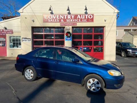 2007 Toyota Corolla for sale at COVENTRY AUTO SALES in Coventry CT