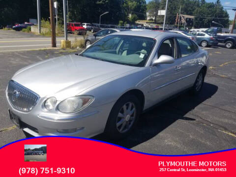 2009 Buick LaCrosse for sale at Plymouthe Motors in Leominster MA