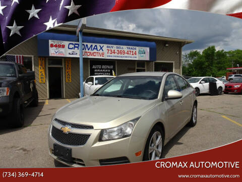 2012 Chevrolet Cruze for sale at Cromax Automotive in Ann Arbor MI
