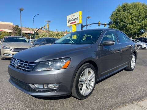 2013 Volkswagen Passat for sale at Boulevard Motors in St George UT