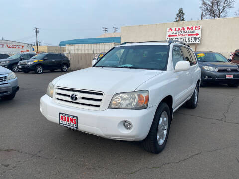 2006 Toyota Highlander for sale at Adams Auto Sales in Sacramento CA