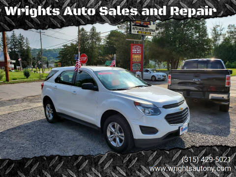 2016 Chevrolet Equinox for sale at Wrights Auto Sales and Repair in Dolgeville NY