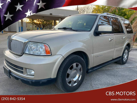 2006 Lincoln Navigator for sale at CBS MOTORS in San Antonio TX