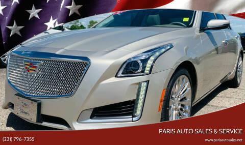 2016 Cadillac CTS for sale at Paris Auto Sales & Service in Big Rapids MI