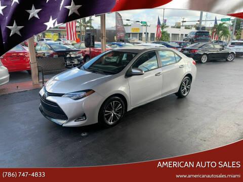2017 Toyota Corolla for sale at American Auto Sales in Hialeah FL