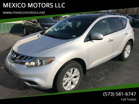 2012 Nissan Murano for sale at MEXICO MOTORS LLC in Mexico MO
