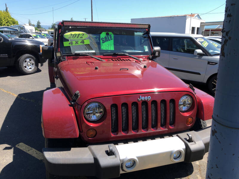 2012 Jeep Wrangler Unlimited for sale at ET AUTO II INC in Molalla OR