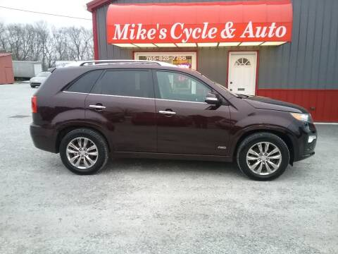 2012 Kia Sorento for sale at MIKE'S CYCLE & AUTO in Connersville IN