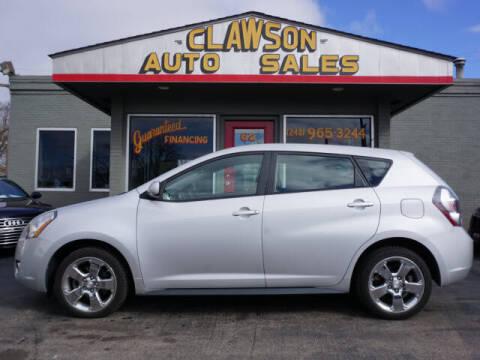 2010 Pontiac Vibe for sale at Clawson Auto Sales in Clawson MI