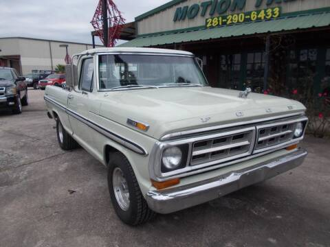 1971 Ford F-100 for sale at MOTION TREND AUTO SALES in Tomball TX