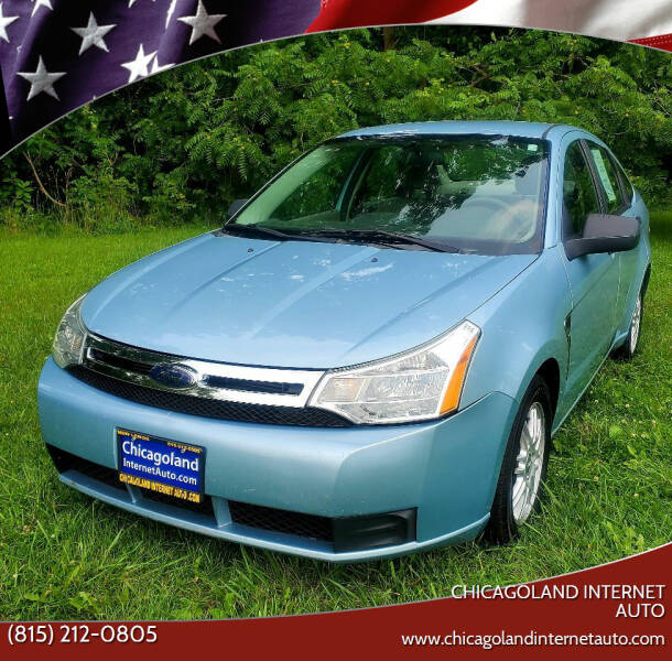 2008 Ford Focus for sale at Chicagoland Internet Auto - 410 N Vine St New Lenox IL, 60451 in New Lenox IL