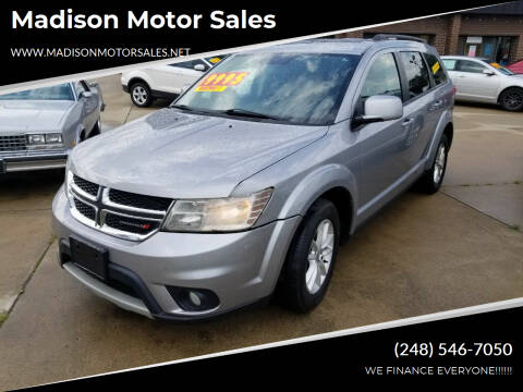 2015 Dodge Journey for sale at Madison Motor Sales in Madison Heights MI