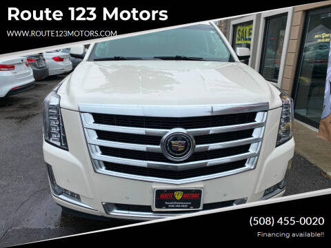 2015 Cadillac Escalade for sale at Route 123 Motors in Norton MA