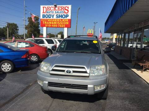 2003 Toyota 4Runner for sale at Deckers Auto Sales Inc in Fayetteville NC