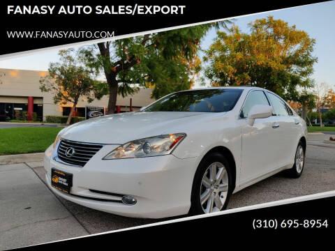 2007 Lexus ES 350 for sale at FANASY AUTO SALES/EXPORT in Yorba Linda CA