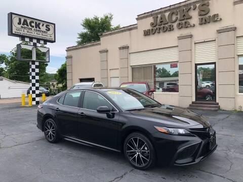 2021 Toyota Camry for sale at JACK'S MOTOR COMPANY in Van Buren AR