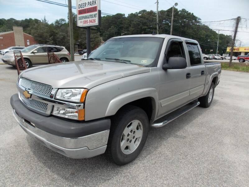 2006 Chevrolet Silverado 1500 for sale at Deer Park Auto Sales Corp in Newport News VA