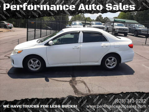 2013 Toyota Corolla for sale at Performance Auto Sales in Hickory NC