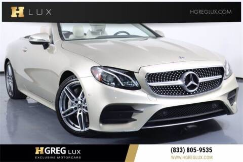 2018 Mercedes-Benz E-Class for sale at HGREG LUX EXCLUSIVE MOTORCARS in Pompano Beach FL