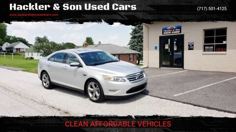2010 Ford Taurus for sale at Hackler & Son Used Cars in Red Lion PA