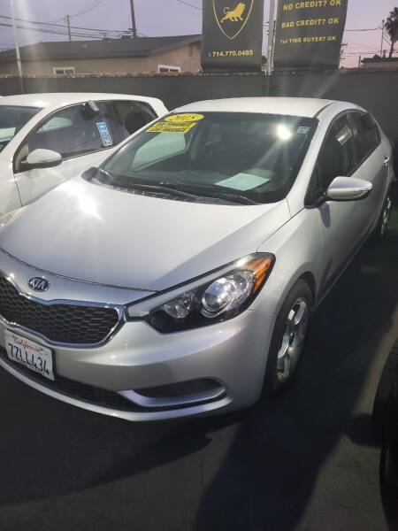 2015 Kia Forte for sale at Alliance Auto Group Inc in Fullerton CA