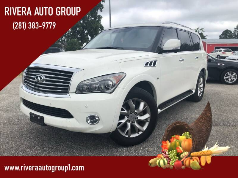2014 Infiniti QX80 for sale at Rivera Auto Group in Spring TX