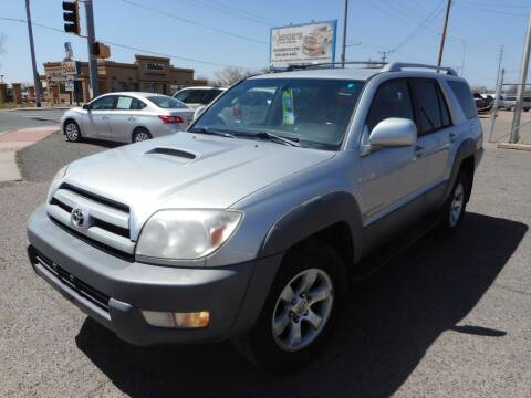 2003 Toyota 4Runner for sale at AUGE'S SALES AND SERVICE in Belen NM