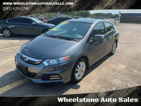 2012 Honda Insight for sale at Wheelstone Auto Sales in La Porte TX