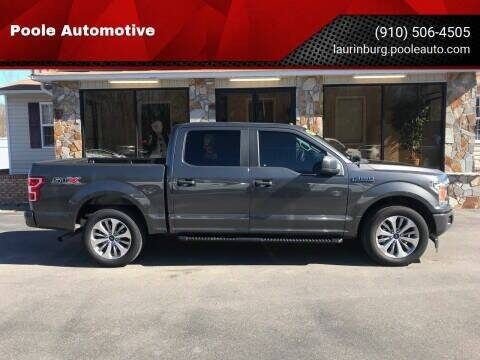 2018 Ford F-150 for sale at Poole Automotive -Moore County in Aberdeen NC