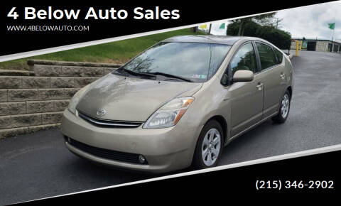 2009 Toyota Prius for sale at 4 Below Auto Sales in Willow Grove PA