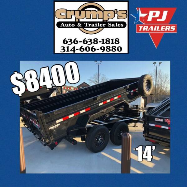 2021 Pj Trailers 14' Bumper Pull Dump  for sale at CRUMP'S AUTO & TRAILER SALES in Crystal City MO