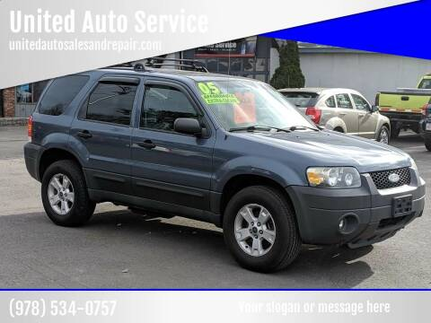 2005 Ford Escape for sale at United Auto Service in Leominster MA