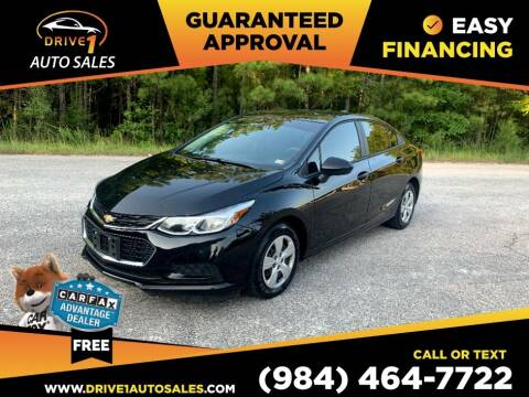 2018 Chevrolet Cruze for sale at Drive 1 Auto Sales in Wake Forest NC