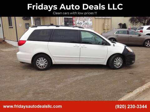 2008 Toyota Sienna for sale at Fridays Auto Deals LLC in Oshkosh WI