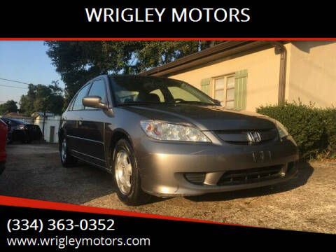 2004 Honda Civic for sale at WRIGLEY MOTORS in Opelika AL