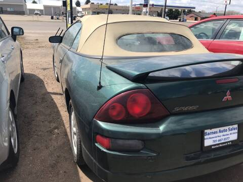 2001 Mitsubishi Eclipse Spyder for sale at BARNES AUTO SALES in Mandan ND