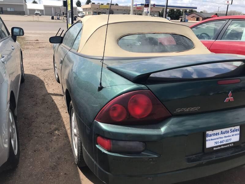 2001 Mitsubishi Eclipse Spyder for sale at BARNES AUTO SALES in Mandan ND
