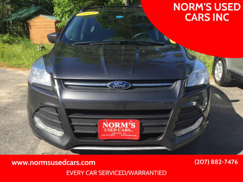 2015 Ford Escape for sale at NORM'S USED CARS INC in Wiscasset ME