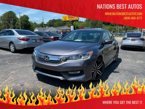 2017 Honda Accord for sale at Nations Best Autos in Decatur GA