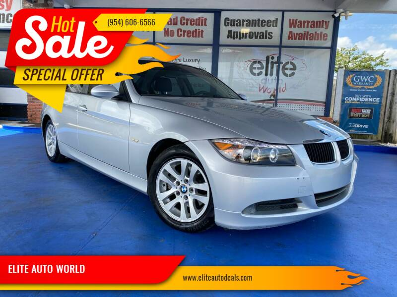 2006 BMW 3 Series for sale at ELITE AUTO WORLD in Fort Lauderdale FL