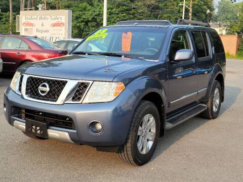 2008 Nissan Pathfinder for sale at United Auto Service in Leominster MA