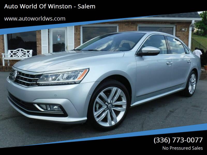 2017 Volkswagen Passat for sale at Auto World Of Winston - Salem in Winston Salem NC